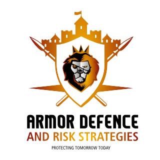 logo created for armor defence by our logo design company